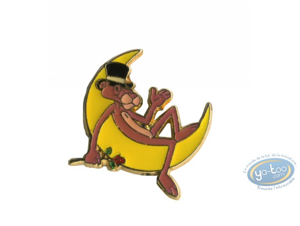 Pin's, Panthère Rose (La) : The pink Panther on the moon
