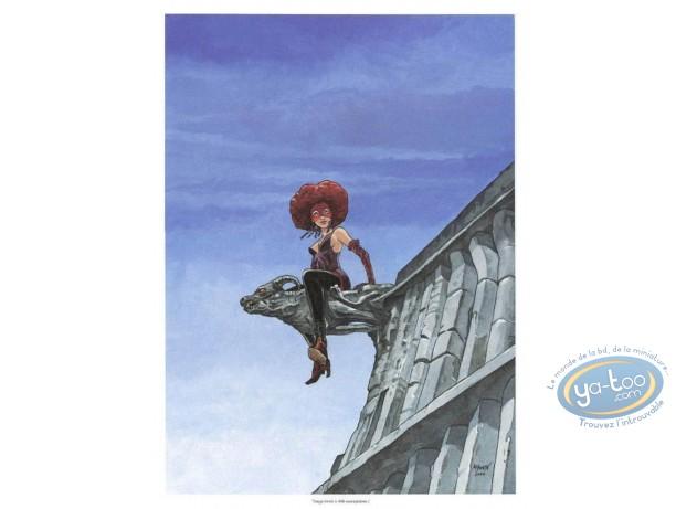 Bookplate Offset, Eaux de Mortelune (Les) : Woman on Gargoyle