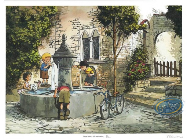 Bookplate Offset, Cadet des Soupetard (Le) : The Fountain