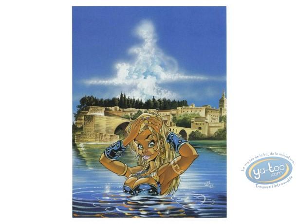 Bookplate Offset, Atalante : Bath in front of Avignon