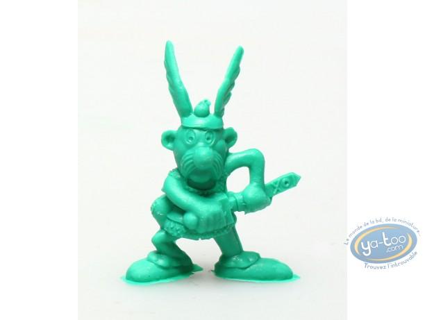 Plastic Figurine, Astérix : Mini Asterix pulling his sword out (green)