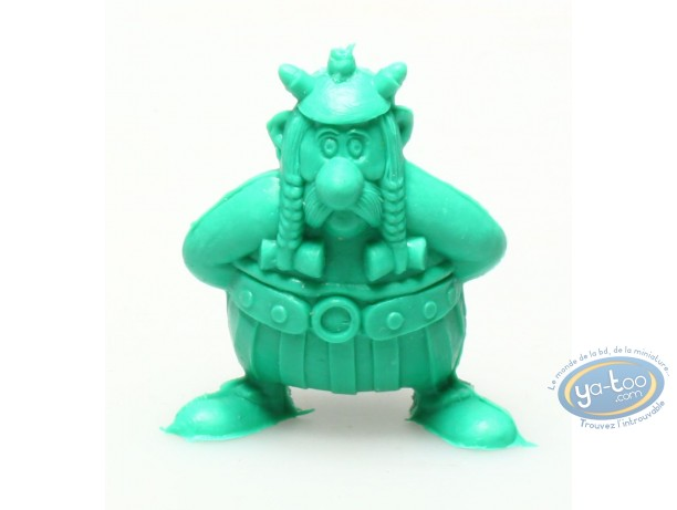 Plastic Figurine, Astérix : Mini Obelix hands in the back (dark green)