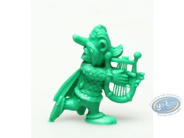 Plastic Figurine, Astérix : Mini Cacofonix playing the lyre (dark green)
