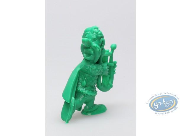 Plastic Figurine, Astérix : Mini Cacofonix playing the lyre (green)