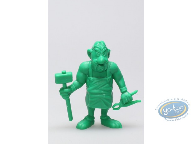 Plastic Figurine, Astérix : Mini Fulliautomatix hammer + clamp (green)