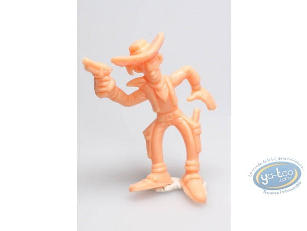Plastic Figurine, Lucky Luke : Lucky Luke gun in the air (orange)