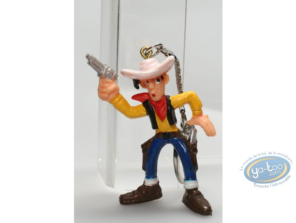 Plastic Figurine, Lucky Luke : Keyring Lucky Luke gun in the air