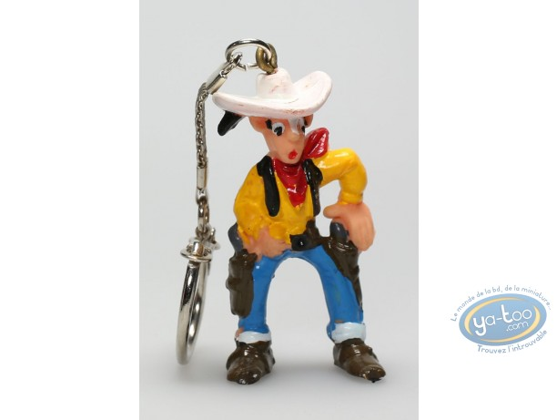 Plastic Figurine, Lucky Luke : Keyring Lucky Luke ready to shoot