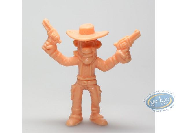 Plastic Figurine, Lucky Luke : William Dalton guns in the air (orange)