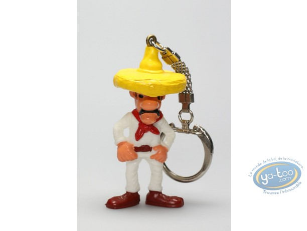 Plastic Figurine, Lucky Luke : Keyring Gonzalez hands on his belt (red scarf)