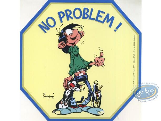 Sticker, Gaston Lagaffe : No problem!