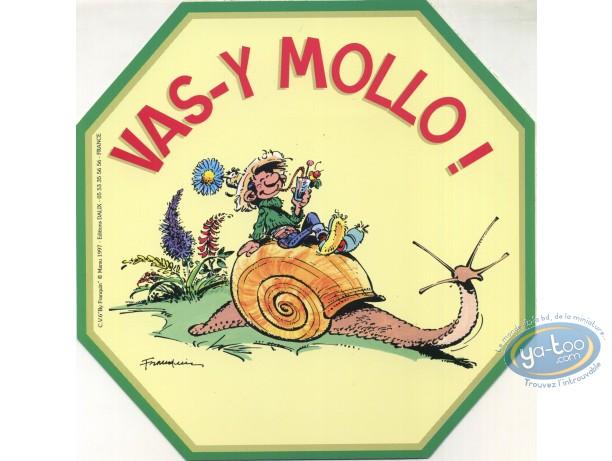 Sticker, Gaston Lagaffe : Go easy!