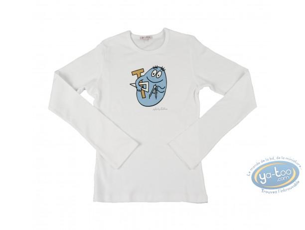 Clothes, Barbapapa : T-shirt long-sleeve white  Barbapapa: size M, tools