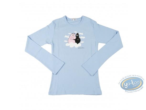 Clothes, Barbapapa : T-shirt long-sleeve blue Barbapapa: size XS, dad and mum