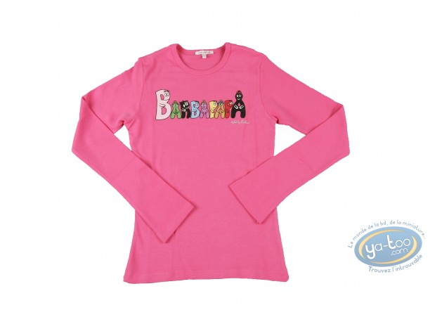 Clothes, Barbapapa : T-shirt long-sleeve pink Barbapapa: size M, logo