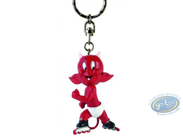 PVC Keyring, Hot Stuff : Key ring, Hot Stuff roller