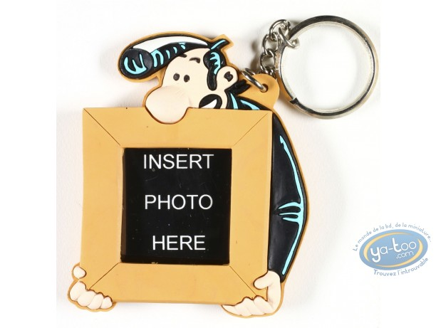 PVC Keyring, Lucien : Lucien carries your photo