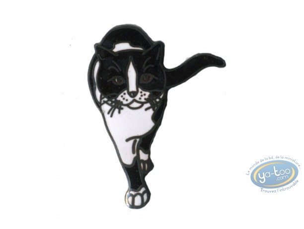 Pin's, Cat black and white by face
