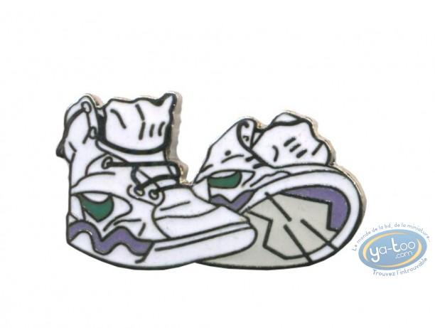 Pin's, White rising sneakers