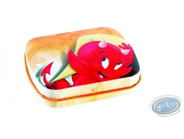 Box, Hot Stuff : Hot Stuff : little metal box (orange)