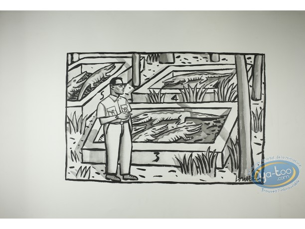 Offset Print, Loustal : Crocodiles' Farm (little marks in the paper)