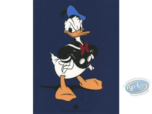 Bookplate Serigraph, Mickey Mouse : Donald (blue), Disney