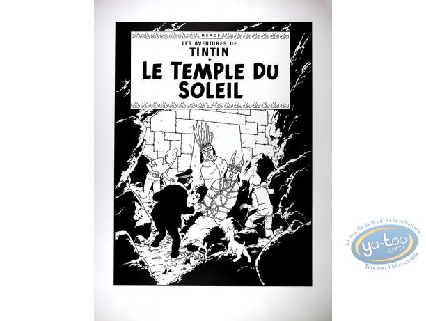 Serigraph Print, Tintin : Prisonners of the Sun (bw)