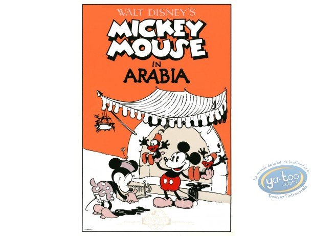 Serigraph Print, Mickey Mouse : In Arabia, Disney