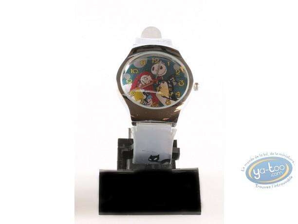 Clocks & Watches, Etrange Noël de Mr. Jack (L') : Watch, The Nightmare before Christmas Mr Jac - grey plastic strap