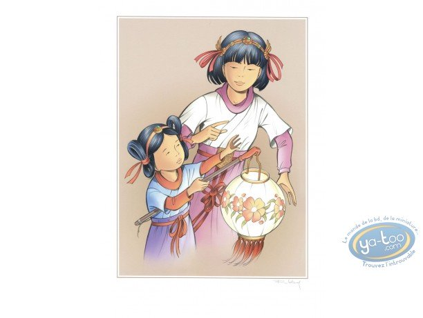 Offset Print, Yoko Tsuno : Yoko & Rosee with Lights