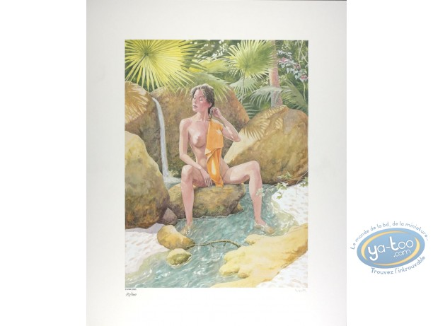 Offset Print, Moine Fou (Le) : He-pao having a bath in the river