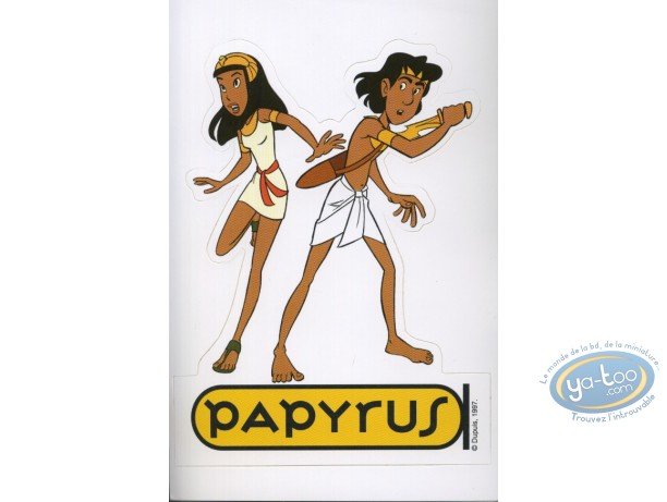Sticker, Papyrus : Bob Morane et Nino