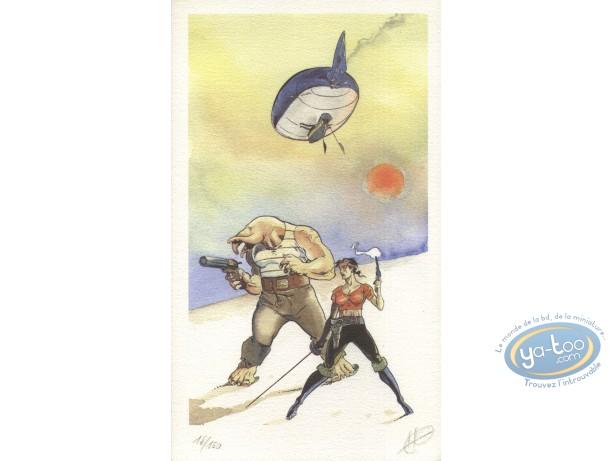 Bookplate Offset, Edward John Trelawnay : Hot Air Balloon