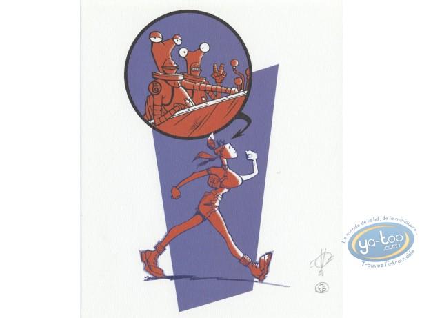Bookplate Offset, Mauvais Aliens : Woman Robot
