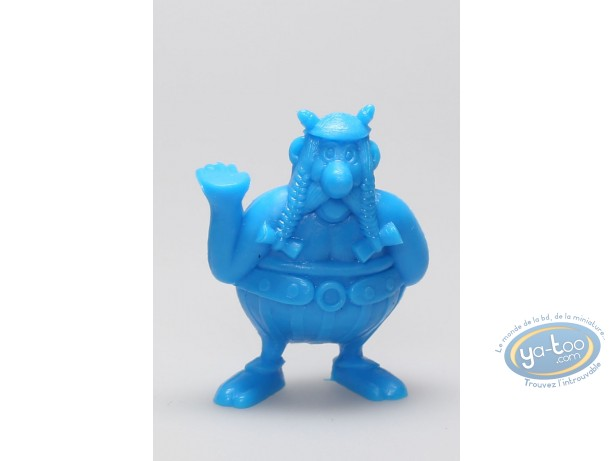 Plastic Figurine, Astérix : Mini Obelix right hand up (blue)