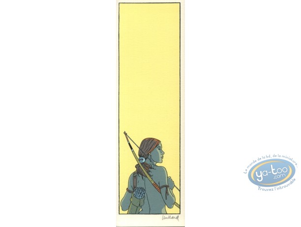 Serigraph Bookmark, Plume aux Vents : Ariane & bow