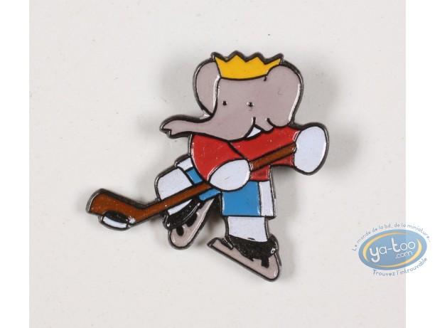 Pin's, Babar : Babar plays ice hockey