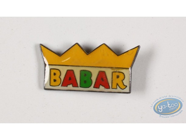 Pin's, Babar : Babar in the winter sports, the crown of king Babar