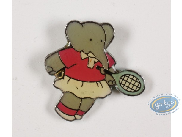 Pin's, Babar : Babar in the tennis, Céleste