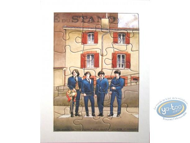 Bookplate Offset, Four Flames (jigsaw)