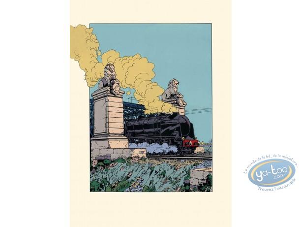 Serigraph Print, Dick Hérisson : The Train