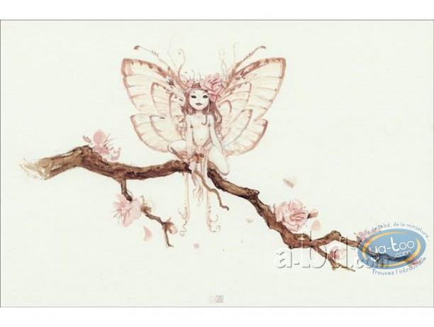 Offset Print, Féerie : Fairy on tree
