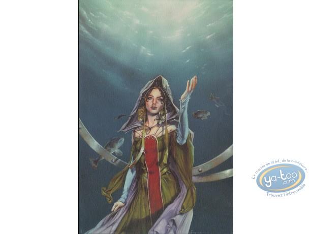 Bookplate Offset, Korrigans : Woman under water