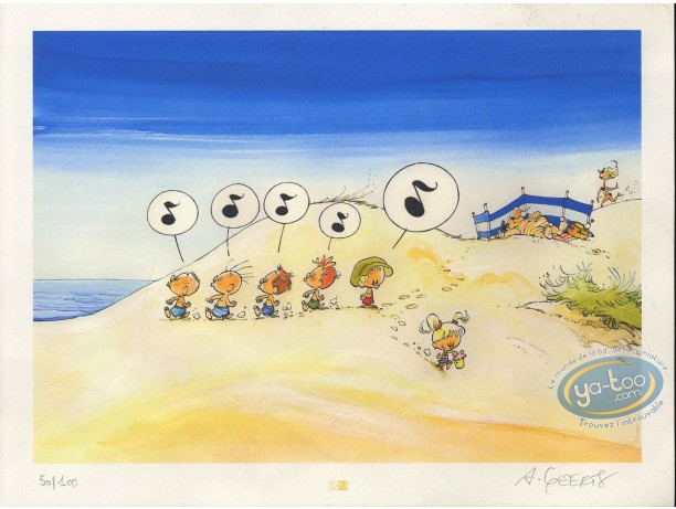 Bookplate Offset, Jojo : The Beach (signed)
