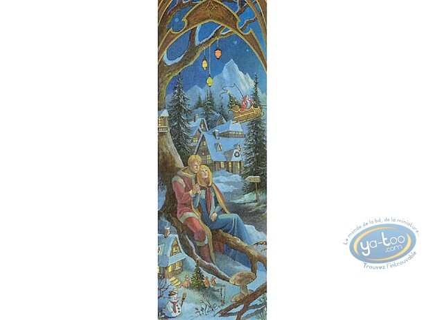 Offset Bookmark, 4 Saisons : The 4 seasons winter (signed)