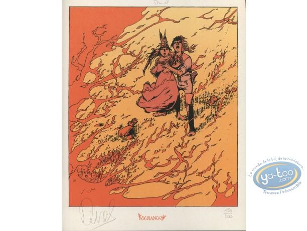 Bookplate Serigraph, Lutins (Les) : Fire
