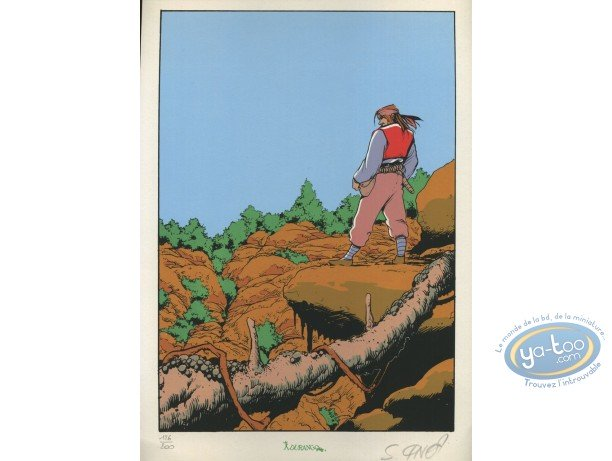 Bookplate Serigraph, Ailes du Phaéton (Les) : On the Hill