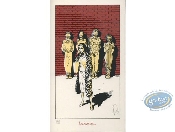 Bookplate Serigraph, Poisson Clown (Le) : Death is coming
