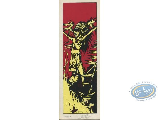 Serigraph Bookmark, Lutins (Les) : Indian Chief