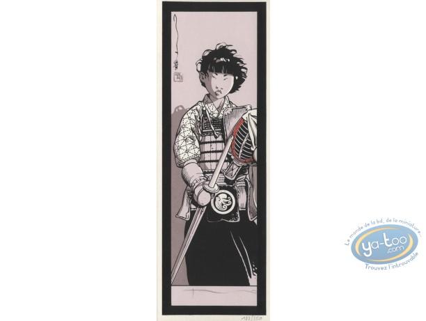 Serigraph Bookmark, Kogaratsu : Warrior